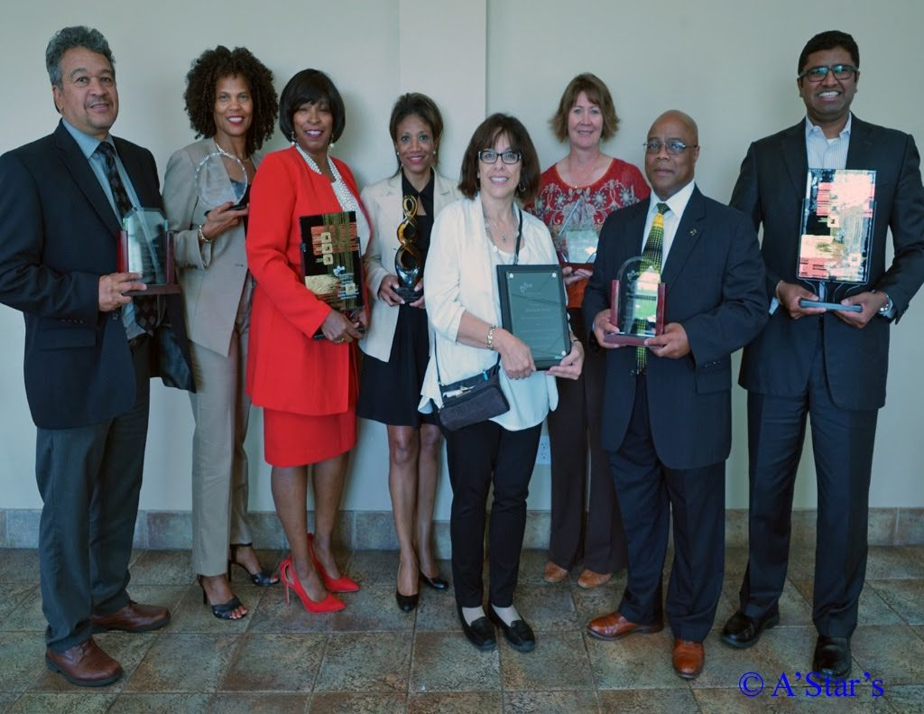 Gilmore CEO Jake Gilmore and Vice President Edweena Gilmore, far left, received the awards on behalf of our company.