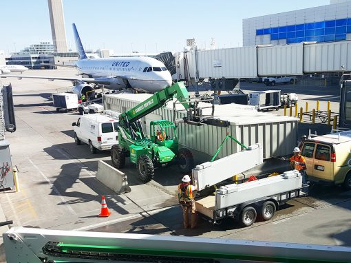 United Airlines, Concourse B OONE and RIDS Installation