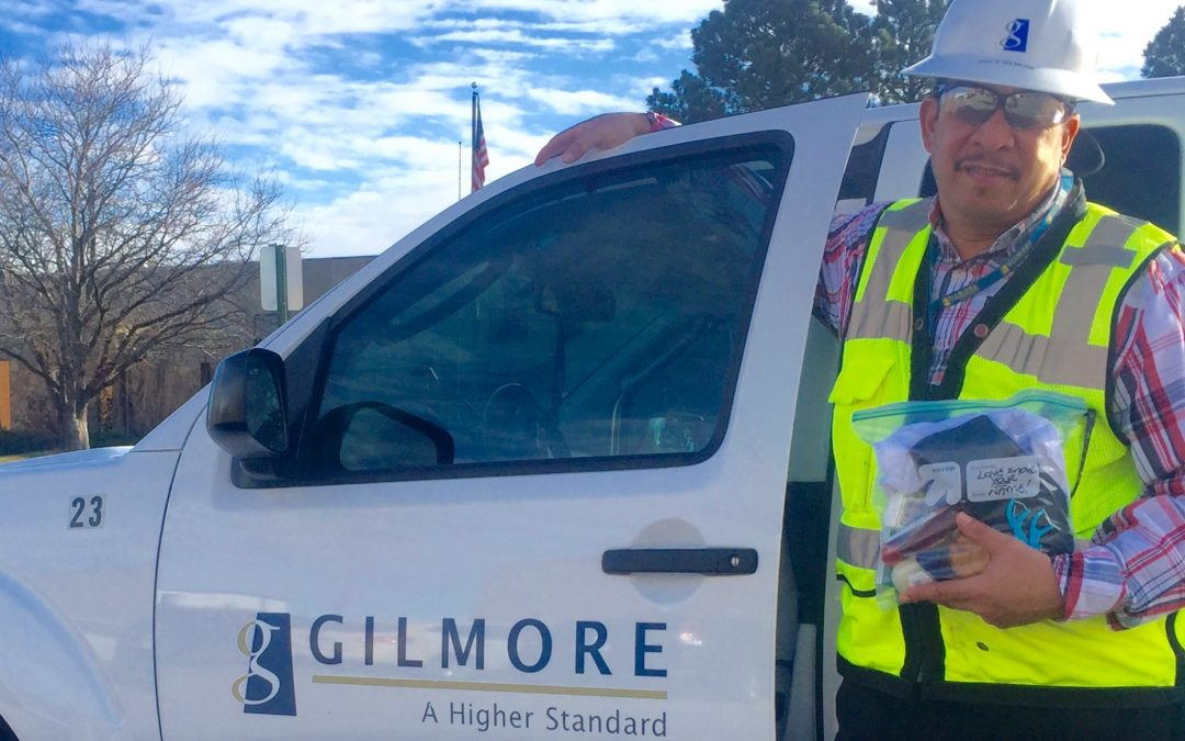 Gilmore Construction gives 'Bags of Hope'