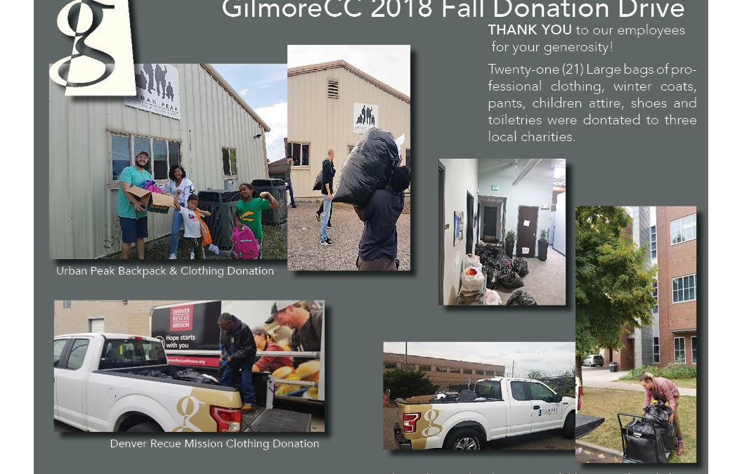 2018 Fall Employee Clothing Donation Drive